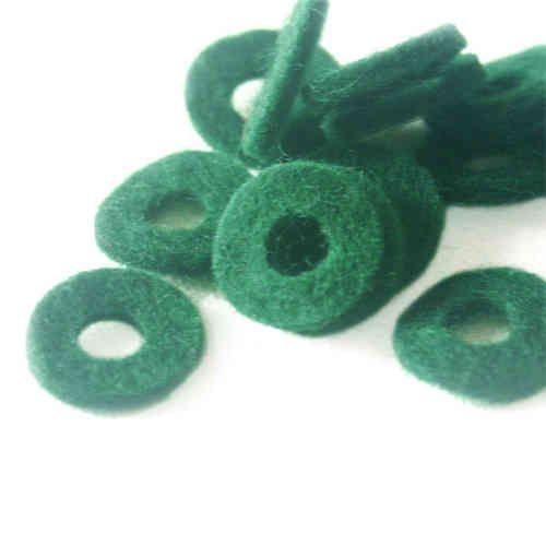 Filz für Bassknöpfe, grün